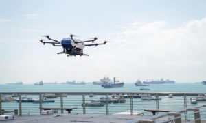Drony Airbus Skyways dostarczają już paczki na statki morskie