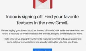 Google Inbox z datą zamknięcia