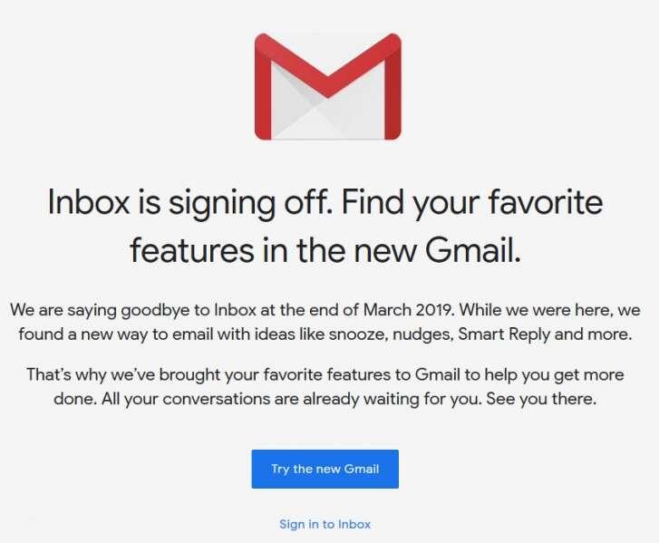 Google Inbox, zamknięcie Google Inbox, koniec Google Inbox, wyłączenie Google Inbox