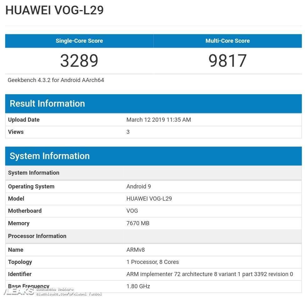Huawei P30 Pro, test Huawei P30 Pro, benchmark Huawei P30 Pro, geekbench Huawei P30 Pro, wydajność Huawei P30 Pro, kirin 980 Huawei P30 Pro