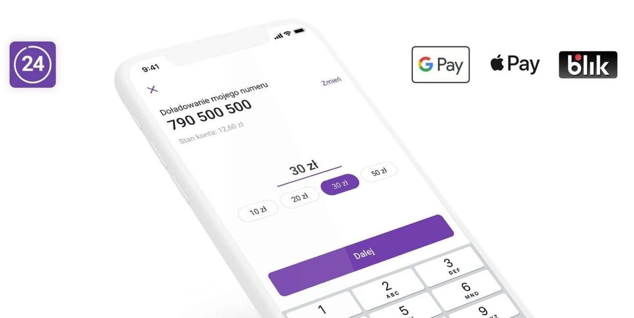 Play24, google pay Play24, apple pay Play24, doładowanie Play24, płatność Play24