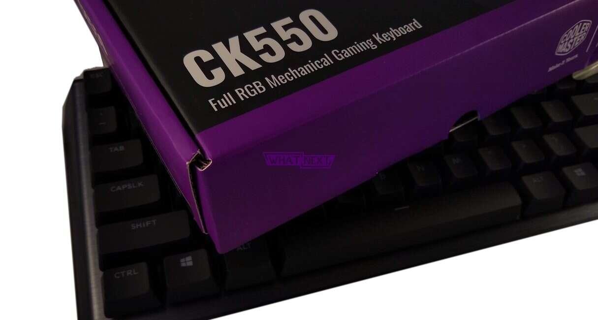 Test klawiatury CK550 z przełącznikami Gatreon