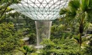 Najwyższy na świecie kryty wodospad powstał na Singapurskim lotnisku