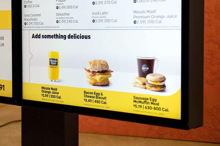 McDonald zacznie korzystać z SI w menu na podjazdach drive-thru