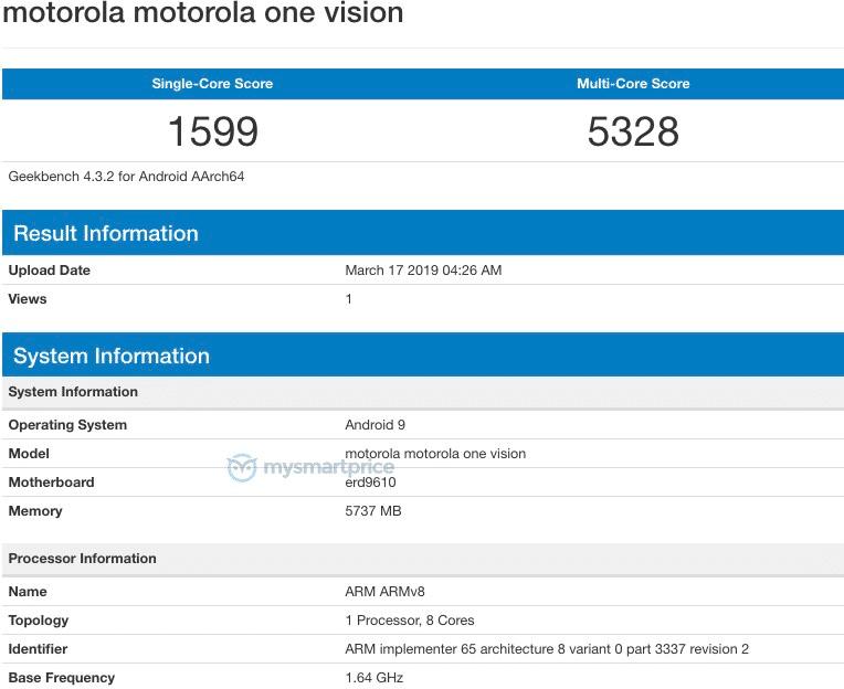 Motorola, Exynos 9610,motorola exynos, motorola exynos geekbench