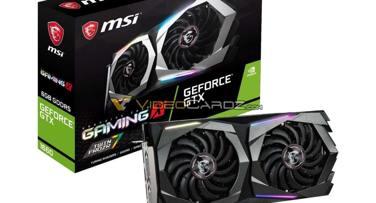 GeForce GTX 1660 na przecieku wersji od MSI