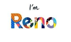 Banery reklamowe pokazują Oppo Reno