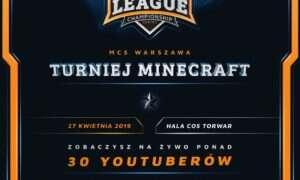 Niedługo odbędzie się turniej Minecrafta – MCS Warszawa 2019