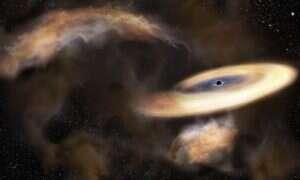 Rzadko spotykana czarna dziura zaobserwowana w centrum Drogi Mlecznej