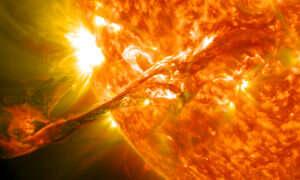 W starożytności w Ziemię uderzyła potężna burza słoneczna