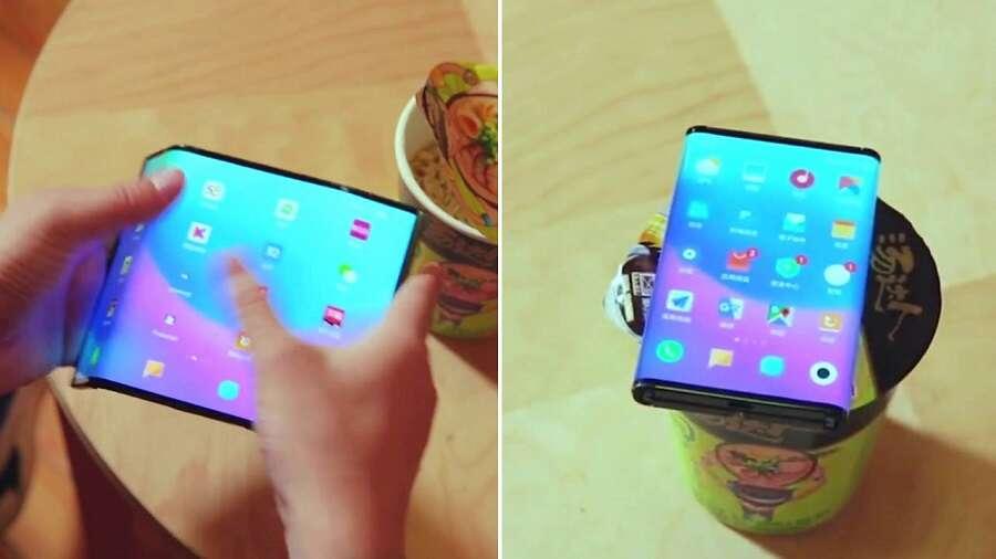 Xiaomi mi flex, składany smartfon Xiaomi, film mi flex, film składany smartfon