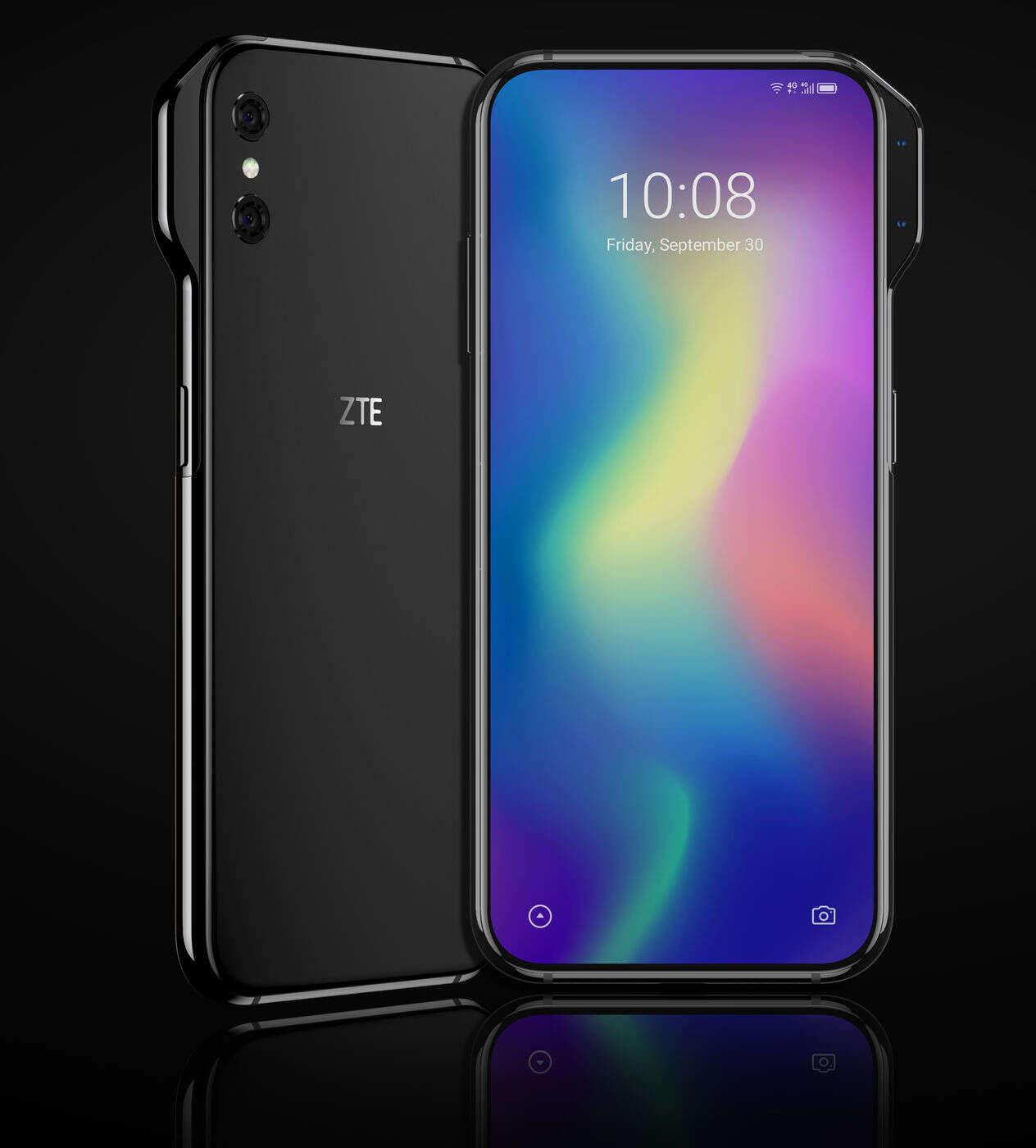 ZTE Axon V, aparat ZTE Axon V, wybrzuszenie ZTE Axon V, przedni aparat ZTE Axon V, wycięcie ZTE Axon V, ekran ZTE Axon V, specyfikacja ZTE Axon V