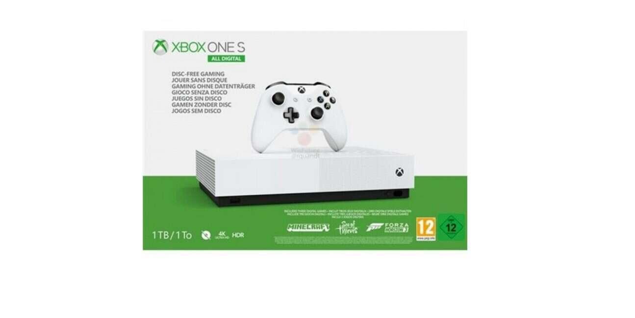 Wyciekły fotki konsoli Xbox One S All Digital