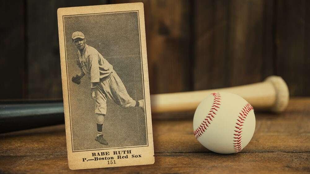 Znaleziona w pianinie za 25$ karta Babe Ruth sprzedała się za krocie