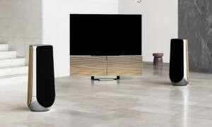Sztuka dla sztuki w Beovision Harmony z 77-calowym telewizorem i głośnikami