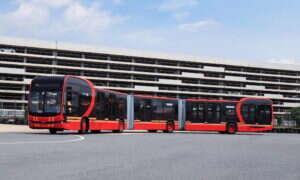 K12A to najdłuższy na świecie elektryczny autobus, który musiał zostać podzielony na trzy części