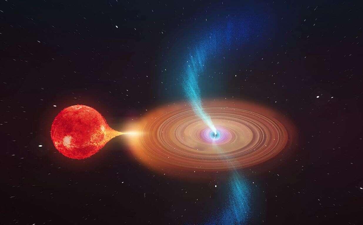 czarna dziura, gwiazda czarna dziura, wysysanie gwiazdy czarna dziura, niszczenie gwiazdy czarna dziura,