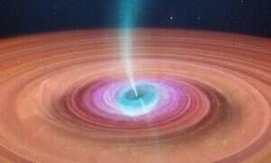 Czarna dziura złapana na wysysaniu gwiazdy