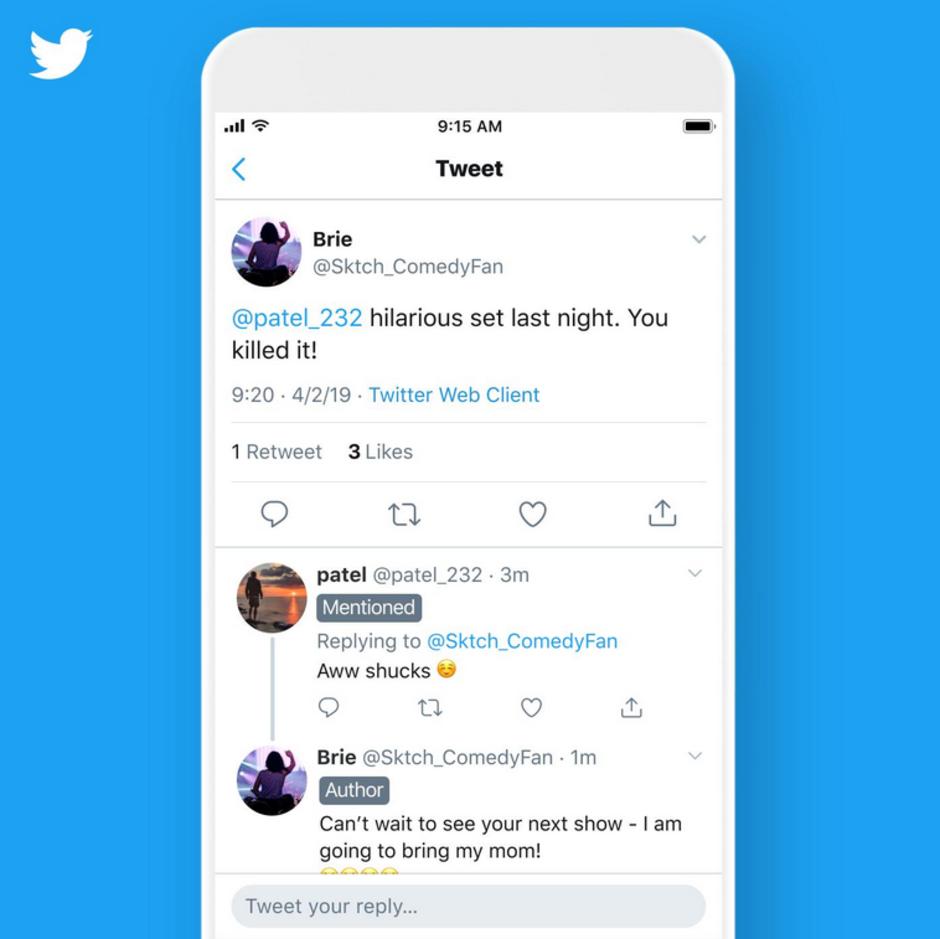 Twitter, etykiety Twitter, autor Twitter, posty Twitter, zmiany Twitter,