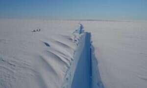 Gigantyczna góra lodowa wkrótce oderwie się od Antarktydy
