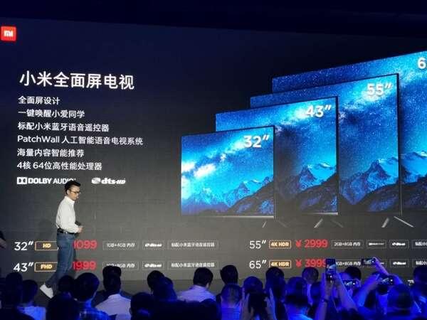 Xiaomi, telewizor Xiaomi, TV Xiaomi, 2019 telewizor Xiaomi, 2019 TV Xiaomi, pełnoekranowy TV Xiaomi, nowy TV Xiaomi,