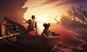 Testerzy Sea of Thieves wspinali się okrętami po skałach