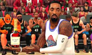 Ten zwiastun filmu Kosmiczny Mecz 2 został wykonany w grze NBA 2K