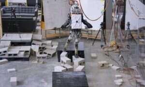 Tym razem robot Atlas stawił czoła trudnemu terenowi