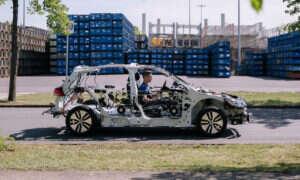 Szkielet elektrycznego samochodu eGon od Volkswagena działa… i uczy!