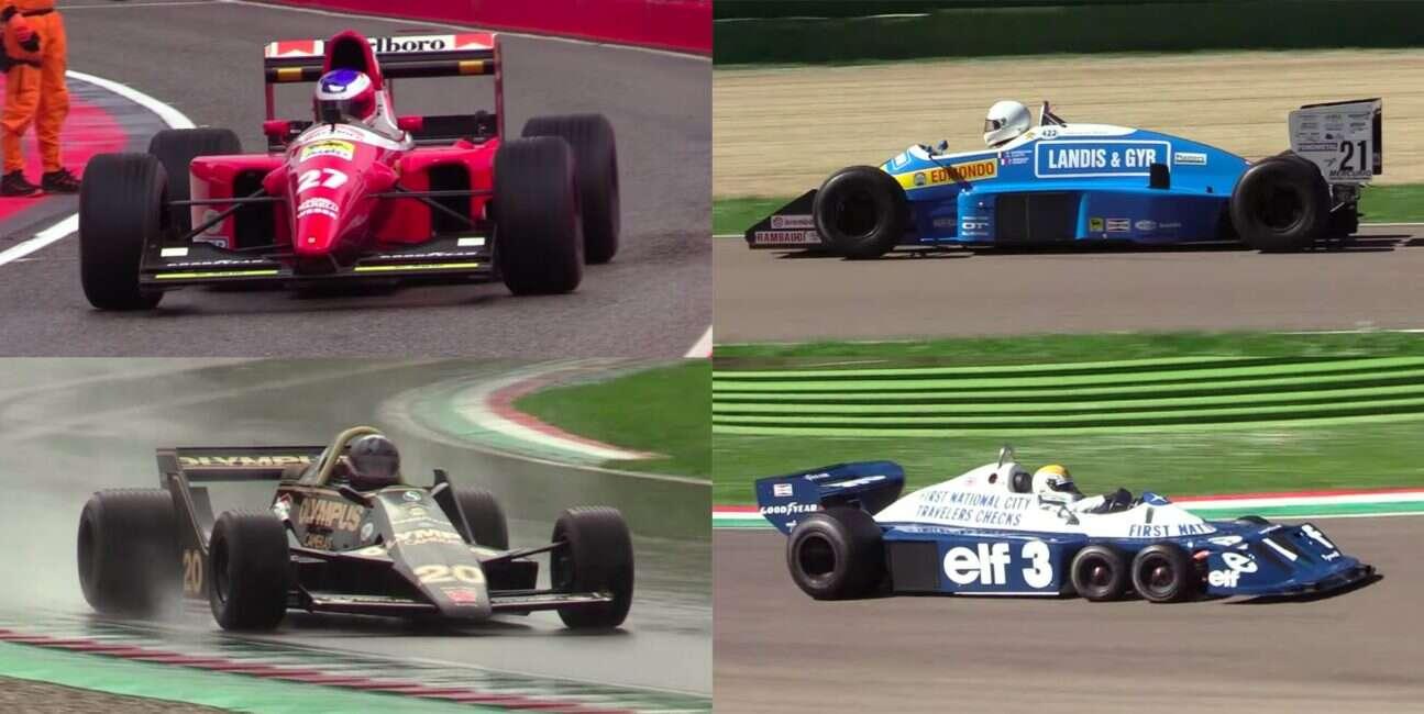 Posłuchajcie zabytkowych samochodów F1 w akcji