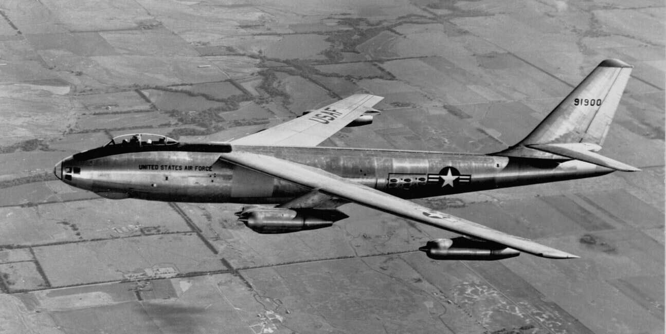 Bezmyślny popis pilota bombowca nuklearnego B-47