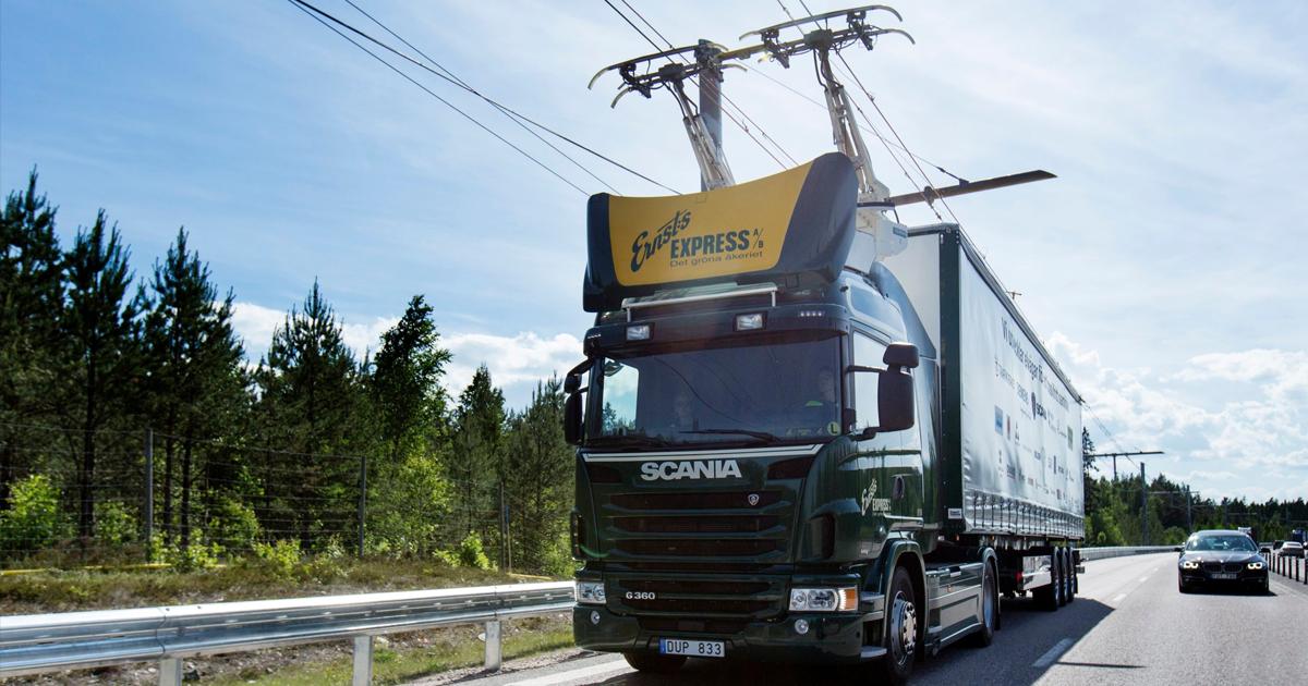 Na niemieckiej autostradzie pojawiły się przewody energetyczne do napędzania ciężarówek