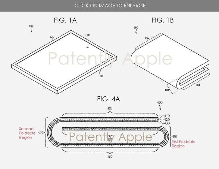 Apple, patent Apple, składane urządzeni Apple, składany smartfon Apple, fold Apple, składany telefon Apple,