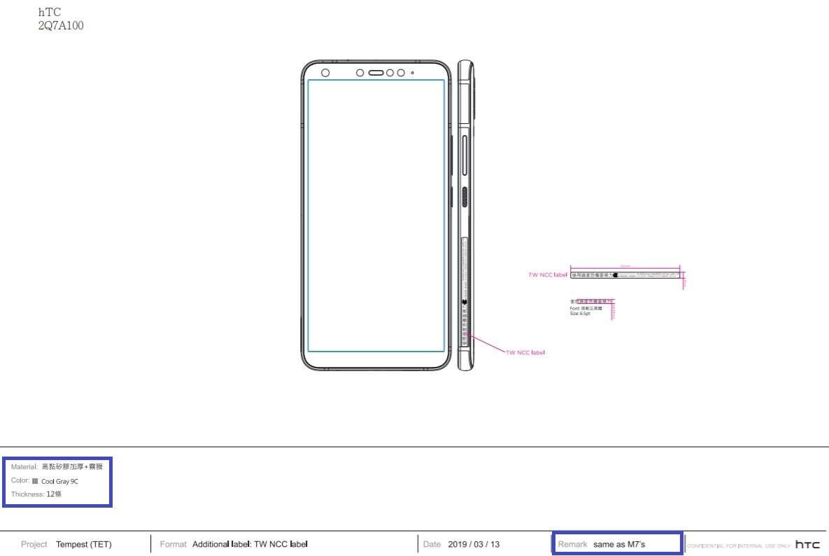 HTC One, HTC 2Q7A100, NCC HTC 2Q7A100, specyfikacja HTC 2Q7A100, parametry HTC 2Q7A100