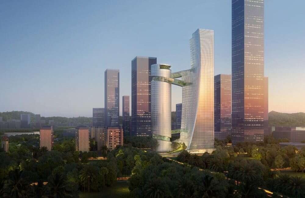 Wieżowce iCarbonX Headquarters zostaną połączone mostkami przepełnionymi naturą