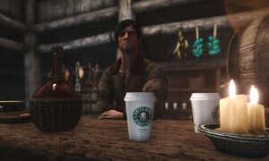 Kubek ze Starbucksa w Skyrimie – wpadka serialowa w świecie gry