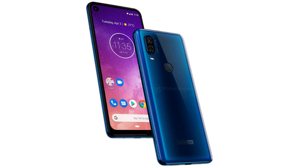 Motorola One Vision, rednery Motorola One Vision, prasowe rendery Motorola One Vision, wygląd Motorola One Vision, specyfikacja Motorola One Vision