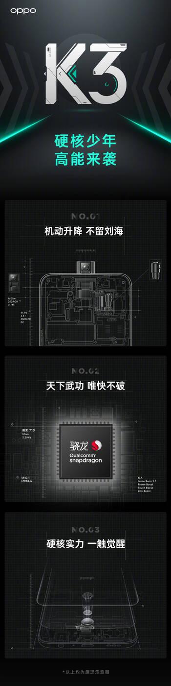 Oppo K3, specyfikacja Oppo K3, parametry Oppo K3, cena Oppo K3, premiera Oppo K3