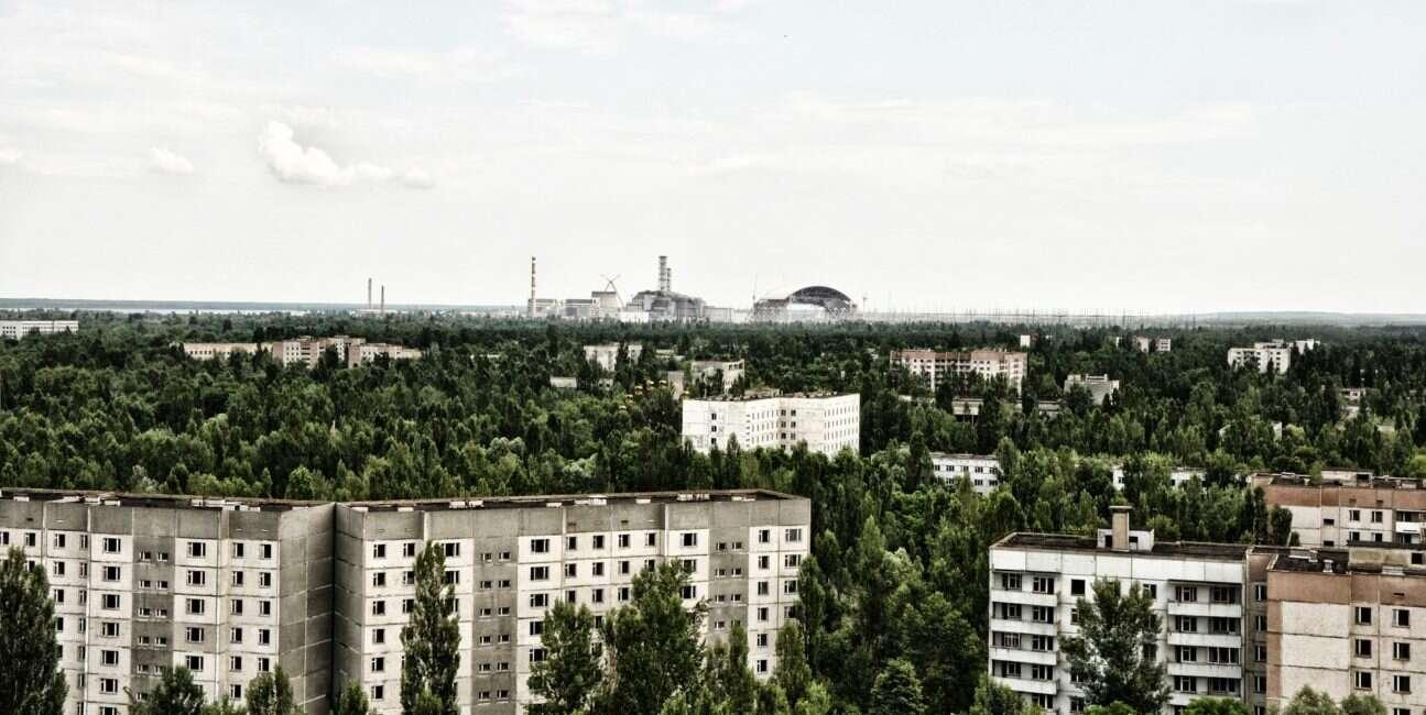 Czarnobyl, las Czarnobyl, czerwony las, czerwony las Czarnobyl, promieniowanie Czarnobyl, hotspot Czarnobyl,