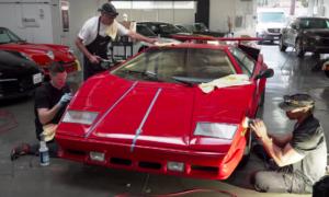 Utrzymanie Lamborghini Countach w świetnym stanie jest istną udręką