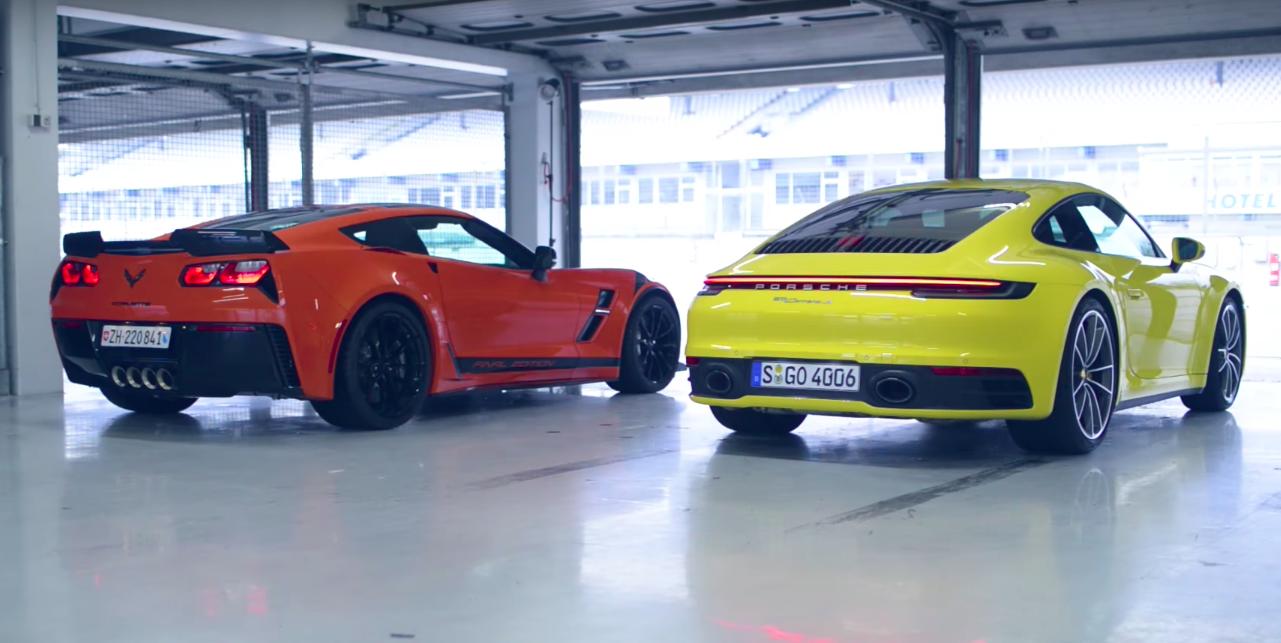 Pojedynek Corvette Grand Sport z 911 Carrera S na torze był do przewidzenia