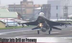 Tajwan testował odcinki autostrady w roli pasa startowego dla myśliwców