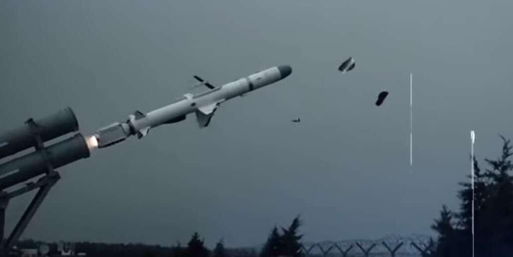Zobaczcie nagranie z nisko latającej militarnej rakiety