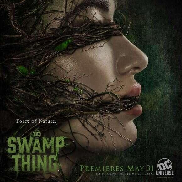 Alec Holland i Abby Arcane na oficjalnych plakatach ze Swamp Thing