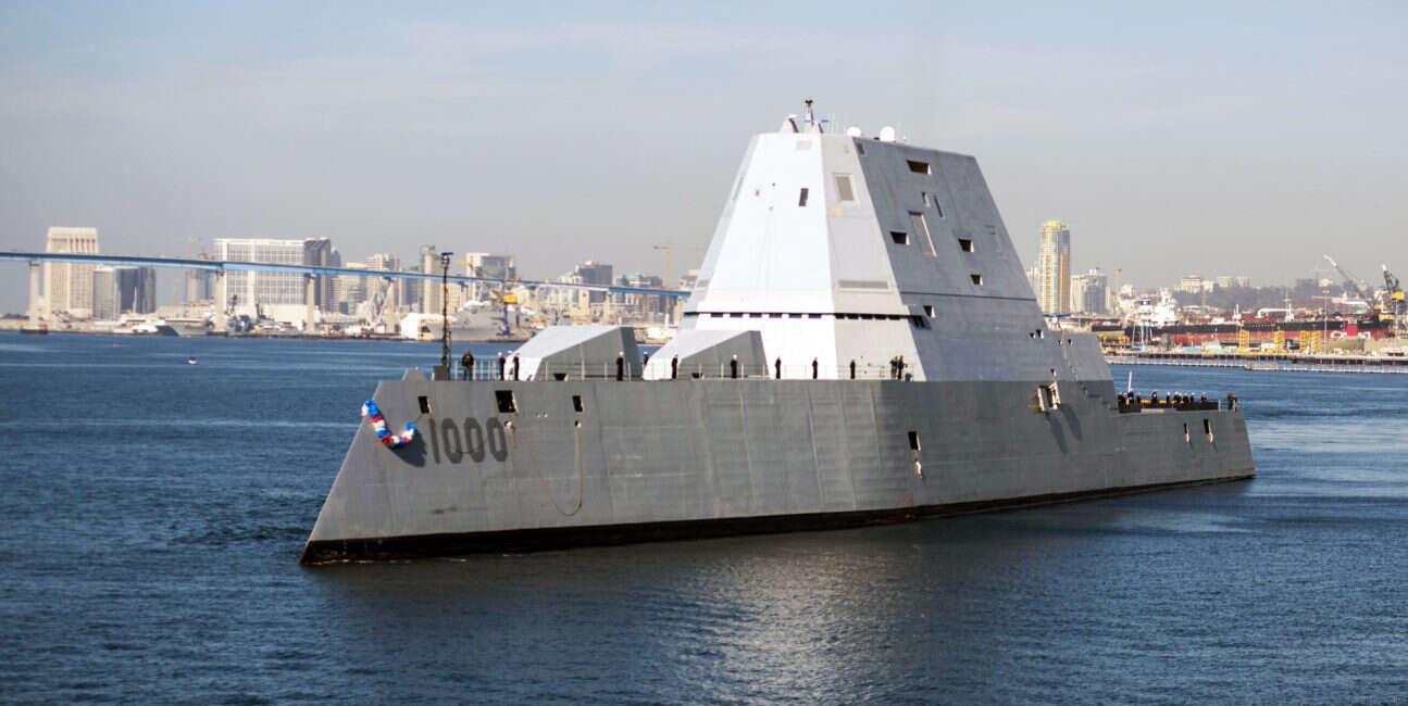 okręty Zumwalt przejdą ogromną przemianę
