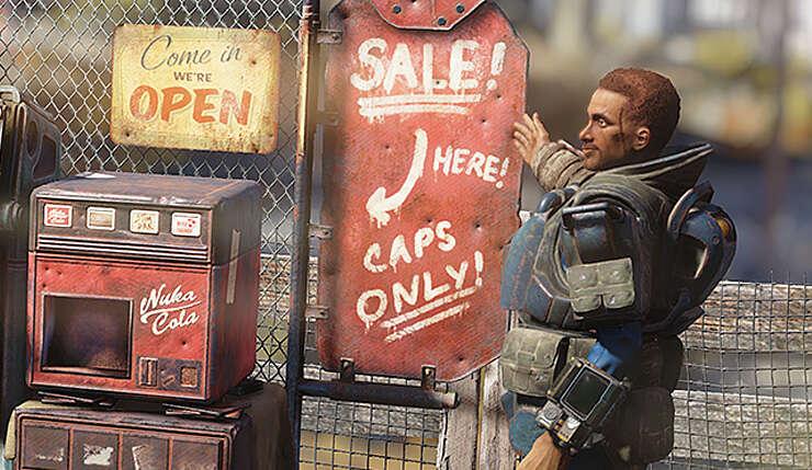 Fallout 76 - Bethesda wprowadzi sklepy graczy i nową legendarną walutę