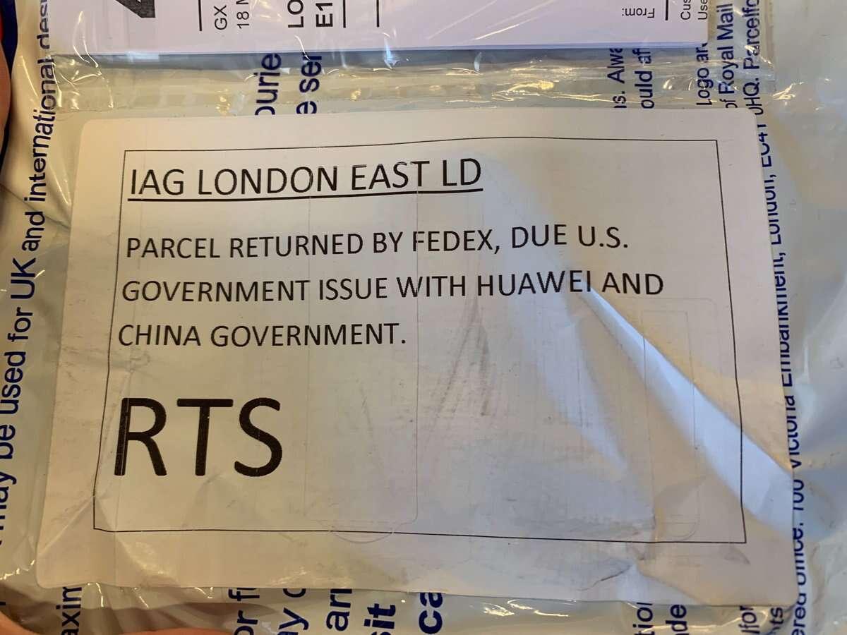 FedEx, Huawei FedEx, huawei, paczka FedEx, paczka FedEx USA, huawei USA, ban Huawei, sankcje Huawei, Fedex paczka z Huawei