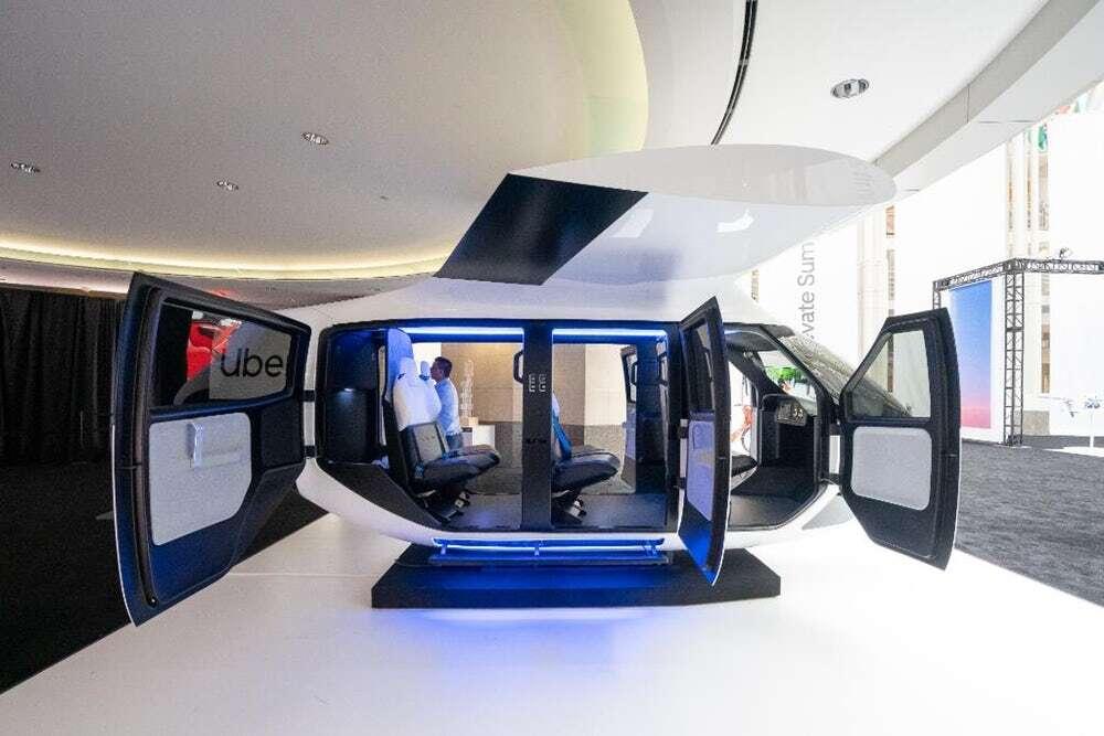 Latające taksówki Ubera w Australii i prezentacja ich kabiny
