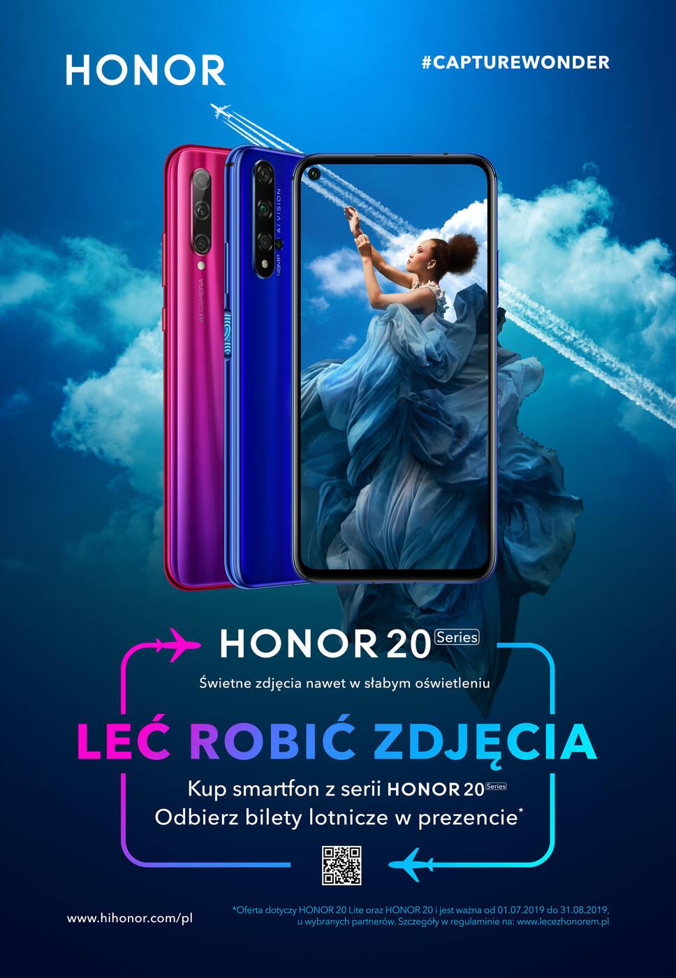 Honor 20, premiera Honor 20, data premiery Honor 20, Polska Honor 20, kiedy Honor 20, promocja Honor 20, bilety Honor 20, bilety lotnicze Honor 20,
