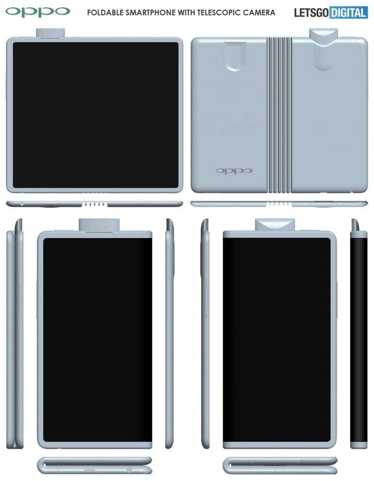 Oppo, składany smartfon Oppo, zginany smartfon Oppo, składany telefon Oppo, zginany telefon Oppo, patent Oppo,